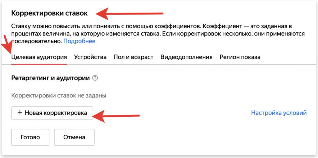 Настройка рекламной кампании Яндекс Директ для показа в сетях.